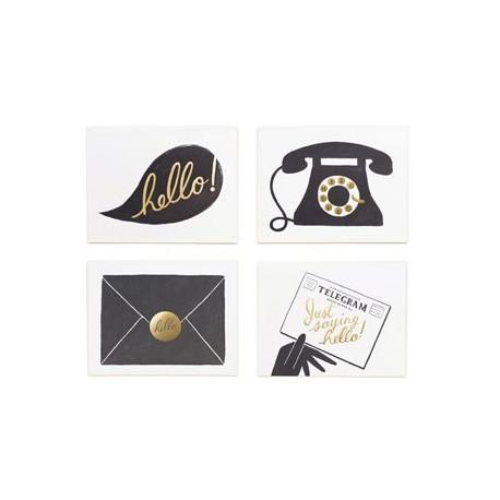 set de 8 cartes postales 'Hello'