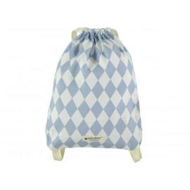 petit sac à dos Florencia losanges bleus