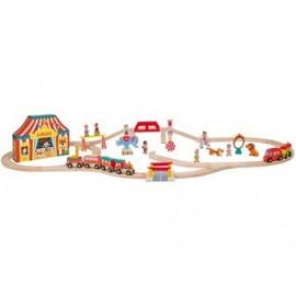 circuit de train en bois 'story express circus'