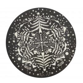 XL Teller aus Bambus - Winter schwarz